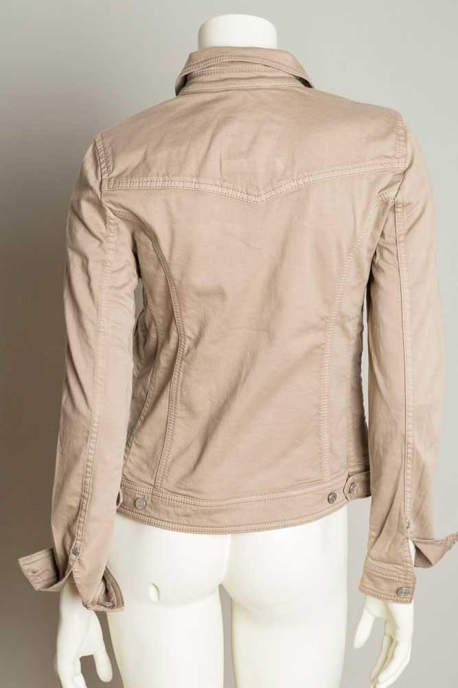 bogner jeans damen jeansjacke leah gr 36 beige neu ebay. Black Bedroom Furniture Sets. Home Design Ideas